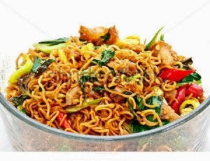 Spicy Noodles Vegetable Biryani and Chicken or Mutton Noodles Biryani with Tomato Sauce