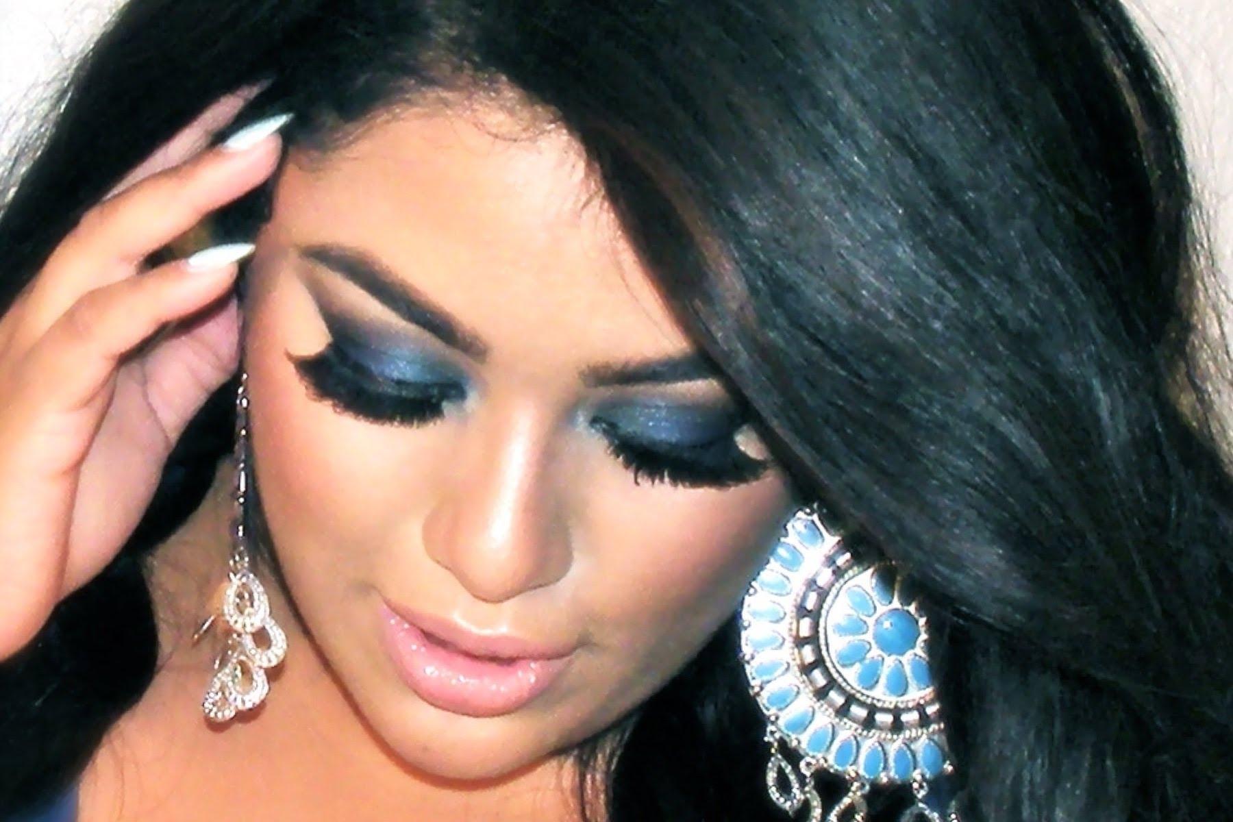 Blue Dresses Makeup