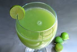 Lime juice and Cucumber