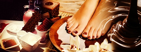 Chocolate Manicure and Pedicure