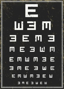 Eye Palming Exercise with Alphabets