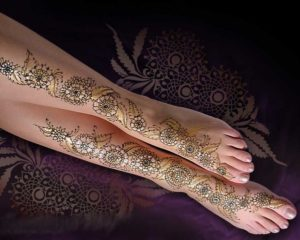 Colourful Mehandi in Different Colors Henna Designs