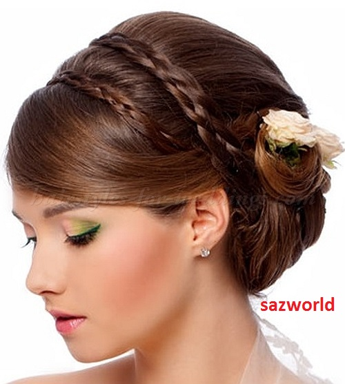 French Hairstyles with Hanging Roll