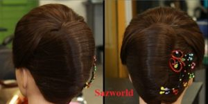Hairstyles-French Roll Hairstyles-Wedding Hairstyles-French Hairstyles with Hanging Roll