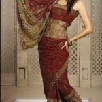 Saree Styles-Single Wrap Saree Style-Burmese Saree Style-Necklace Saree Style
