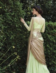 How to Wear a Saree in Different Styles-Up Saree Style-Waist-band Style Saree-Gown Saree Style