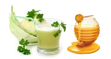 Honey And Cabbage Juice