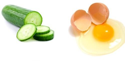 Egg Yolk and Cucumber